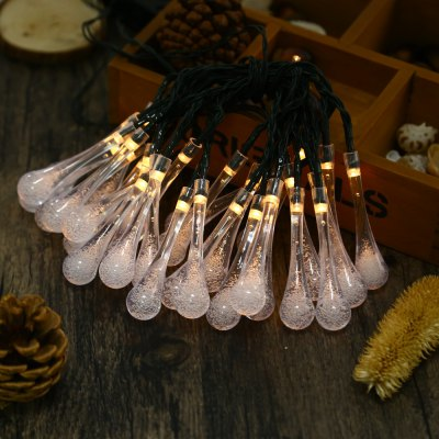 Water Drop 8 Modes 30 LEDs Solar Powered String Light