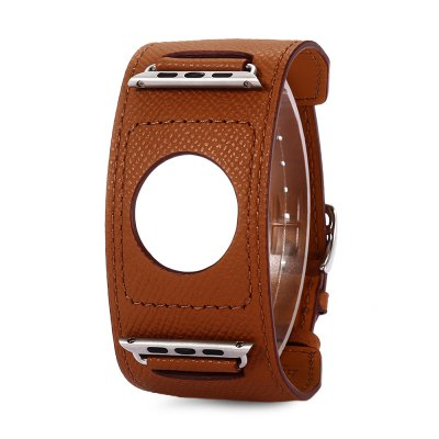 HOCO 42MM Genuine Leather Cuff Watch StrapHOCO 42MM Genuine Leather Cuff Watch Strap<br><br>Band Length: 10.63 inch<br>Band Material Type: Genuine Leather<br>Band Width: 42mm<br>Clasp type: Pin Buckle<br>Product weight: 0.025 kg<br>Package weight: 0.185 kg<br>Product Size(L x W x H): 27.00 x 4.50 x 0.50 cm / 10.63 x 1.77 x 0.2 inches<br>Package Size(L x W x H): 14.00 x 14.00 x 5.00 cm / 5.51 x 5.51 x 1.97 inches<br>Package Contents: 1 x HOCO 42MM Genuine Leather Cuff Watch Band, 1 x Extra-long Double Tour Replacement Wrap Band