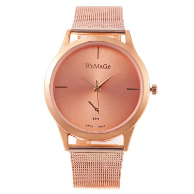 WoMaGe 8844 Women Quartz WatchWomens Watches<br>WoMaGe 8844 Women Quartz Watch<br><br>Band Length: 7.56 inch<br>Band Material Type: Stainless Steel<br>Band Width: 18mm<br>Case material: Alloy<br>Case Shape: Round<br>Clasp type: Pin Buckle<br>Dial Diameter: 1.5 inch<br>Dial Display: Analog<br>Dial Window Material Type: Glass<br>Gender: Women<br>Movement: Quartz<br>Style: Simple<br>Product weight: 0.045 kg<br>Package weight: 0.102 kg<br>Product Size(L x W x H): 23.00 x 4.00 x 1.00 cm / 9.06 x 1.57 x 0.39 inches<br>Package Size(L x W x H): 8.50 x 8.00 x 5.50 cm / 3.35 x 3.15 x 2.17 inches<br>Package Contents: 1 x WoMaGe 8844 Women Quartz Watch