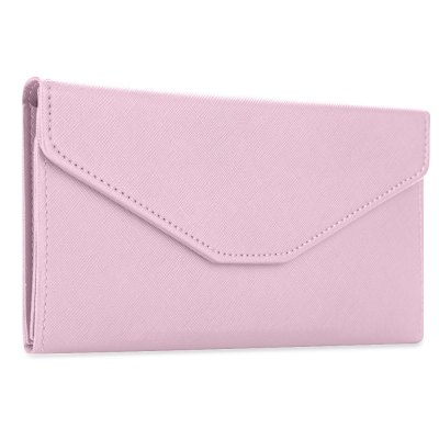 Solid Color Snap Fastener Cell Phone Envelope  Clutch Wallet