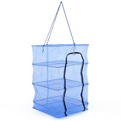 Hanging Drying Net with Zipper Small Mesh for Vegetables