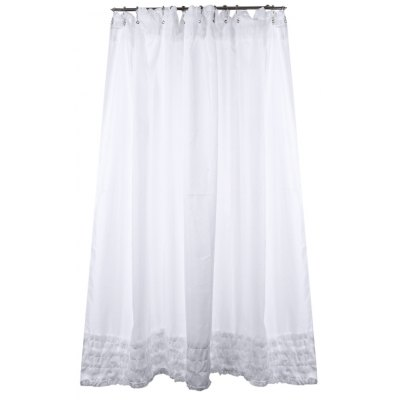 Waterproof Polyester Fabric Lace Bathroom Curtain