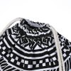 Ethnic Stripe Geometric Print DIY Strap Drawstring Backpack for sale