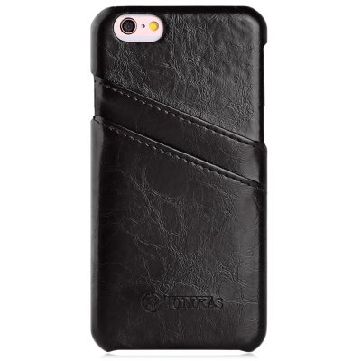 TOMKAS Oil Wax PU Leather Back Cover with Card Holder Function for iPhone 6 Plus / 6S Plus