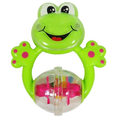 Colorful Baby Frog Shape Hand Bell Rattle Toy