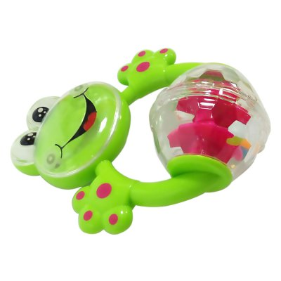 Colorful Funny Infant Frog Shape Handbell Rattle Hanging Toy