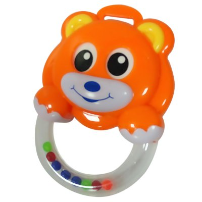 Baby Funny Bear Shape Hand Bell Rattle Toy