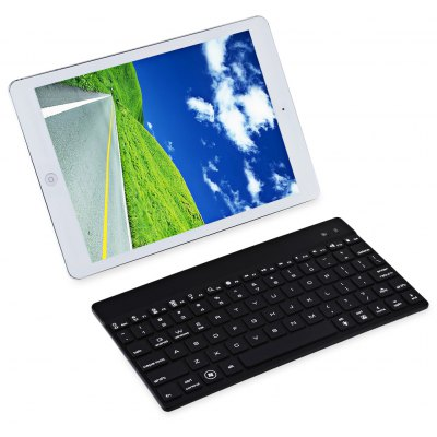 Ultra Thin Seven Colors LED Backlight Wireless Bluetooth Keyboard for iOS / Android / Windows