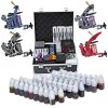 Solong Complete Tattoo Kits 4 Colorful Machine Guns