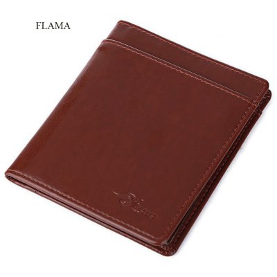 FLAMA Solid Color Coining Letter Open Vertical Thin Wallet