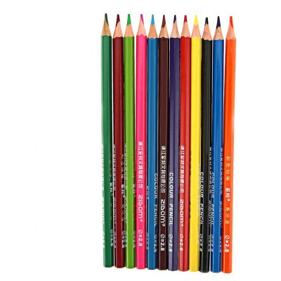Zibom 12 Colored Drawing Wooden Pencil Kit