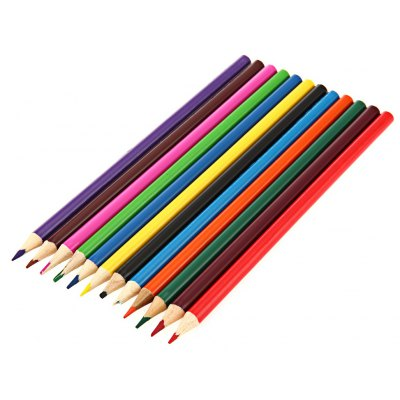 Zibom 12 Colored Wooden Pencil Kit Drawing Pen for Artist Sketch