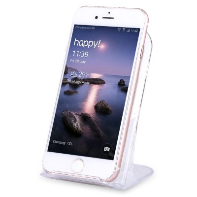 Qi 3 Coils Portable Wireless Charger Support