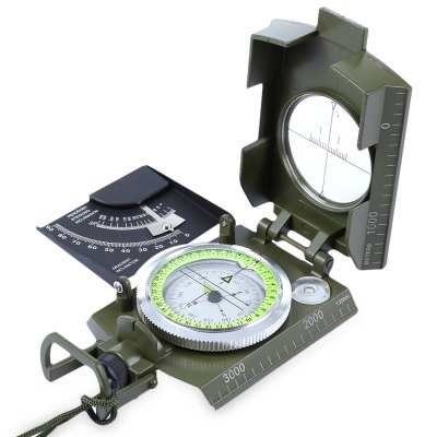 Multifunction Prismatic Water Resistant Luminous Compass