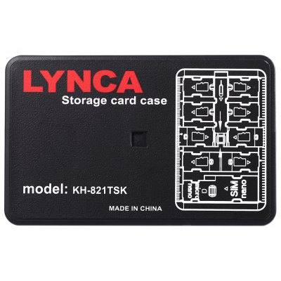 LYNCA Waterproof Memory Card Protector Carrying Case