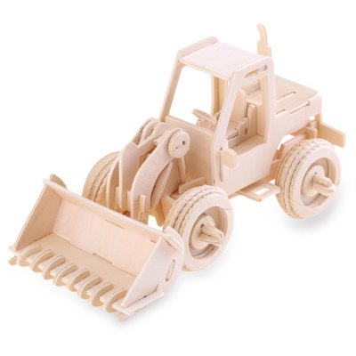 Wooden Forklift Model Construction Kit Toy