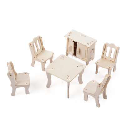 SEALAND G - P011 Wooden 3D Dining Room Construction Kit