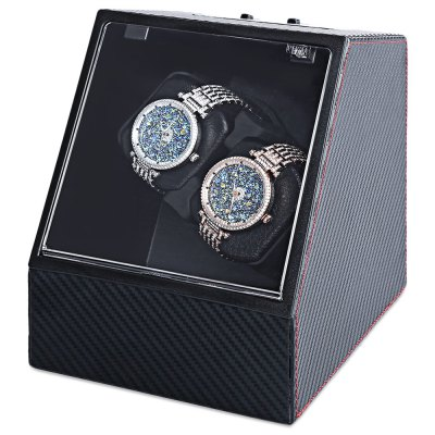 Auto Rotation Watch WinderWatch Accessories<br>Auto Rotation Watch Winder<br><br>Item Height: 7.28 inch<br>Item Length: 6.1 inch<br>Item Width: 6.69 inch<br>Material: Carbon Fiber<br>Product weight: 1.040 kg<br>Package weight: 1.820 kg<br>Product Size(L x W x H): 15.50 x 17.00 x 18.50 cm / 6.1 x 6.69 x 7.28 inches<br>Package Size(L x W x H): 26.00 x 20.00 x 23.00 cm / 10.24 x 7.87 x 9.06 inches<br>Package Contents: 1 x Automatic Watch Winder, 1 x Large Size Battery Holder, 1 x Charger, 1 x English Manual
