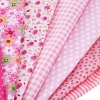 50 x 50CM 7pcs Handmade Patchwork Pink Fabric Cotton Cloth deal