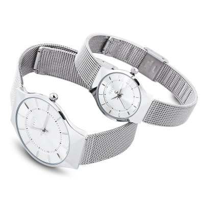 Julius JA - 577 Couple Analog Quartz WatchCouples Watches<br>Julius JA - 577 Couple Analog Quartz Watch<br><br>Brand: Julius<br>Watches categories: Couple tables<br>Watch style: Ultrathin<br>Available color: Black,White<br>Shape of the dial: Round<br>Movement type: Quartz watch<br>Display type: Analog<br>Case material: Alloy<br>Band material: Stainless Steel<br>Clasp type: Folding clasp with safety<br>Water resistance : 30 meters<br>Package weight: 0.213 kg<br>Package size (L x W x H): 8.50 x 8.50 x 7.00 cm / 3.35 x 3.35 x 2.76 inches<br>The male dial dimension (L x W x H): 3.8 cm / 1.50 inches<br>The male watch band dimension (L x W): 1.8 cm / 0.71 inches<br>The male watch weight: 0.058 kg<br>The male watch size (L x W x H): 25 x 3.8 x 0.6 cm / 9.83 x 1.49 x 0.24 inches<br>The female dial dimension (L x W x H): 2.5 cm / 0.98 inches<br>The female watch band dimension (L x W): 1.2 cm / 0.47 inches<br>The female watch weight: 0.035 kg<br>The female size (L x W x H): 22 x 2.5 x 0.6 cm / 8.65 x 0.98 x 0.24 inches<br>Package Contents: 1 x Julius JA - 577 Ultrathin Dial Couple Quartz Watch