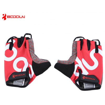 BOODUN 2140018 Paired Anti-slip Cycling Half Finger Gloves
