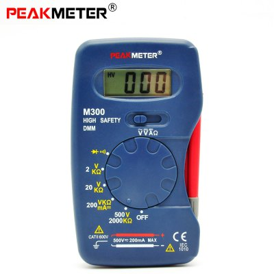 PEAKMETER M300 Digital Multimeter Voltage Current Resistance