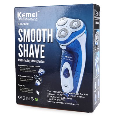Kemei KM - 5880 Rechargeable Triple Floating Electric Shaver