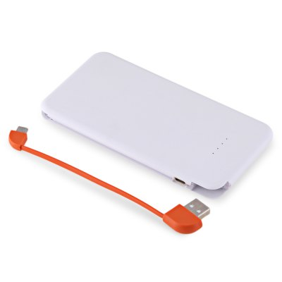 4000mAh Power Bank Built-in Micro USB CablePower Banks<br>4000mAh Power Bank Built-in Micro USB Cable<br><br>Battery Capacity(mAh): 3001-4000<br>Product weight: 0.095 kg<br>Package weight: 0.155 kg<br>Product Size(L x W x H): 13.30 x 6.90 x 0.90 cm / 5.24 x 2.72 x 0.35 inches<br>Package Size(L x W x H): 14.00 x 7.50 x 1.50 cm / 5.51 x 2.95 x 0.59 inches<br>Package Contents: 1 x Power Bank