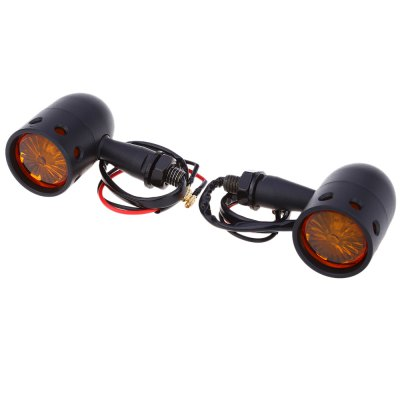 Pair of Universal Motorcycle Electroplating Signal Turn Light