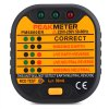 cheap PEAKMETER PM6860ER UK Plug 220V - 250V Socket Tester