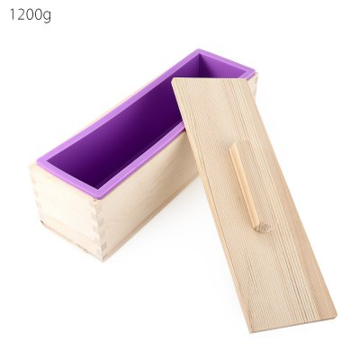 Silicone Soap Mold Wooden Box with Cover
