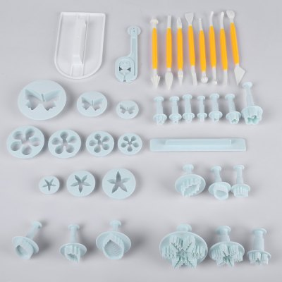 37pcs Cake Plunger Mold Cutter Decorating Tools