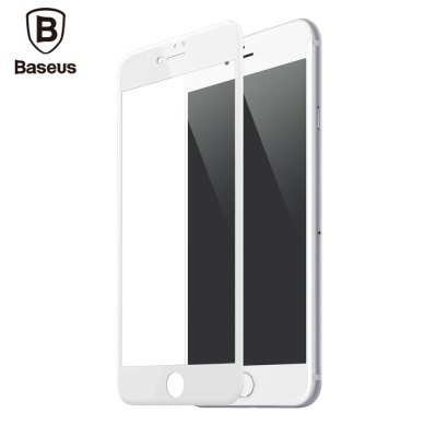 Baseus 3D Arc 9H Tempered Glass PET Soft Border Anti blue Light Shatterproof Screen Protective Film for iPhone 7 Plus 5.