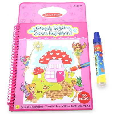 Magic Water Drawing Book Painting Board with Pen - Flower Princess