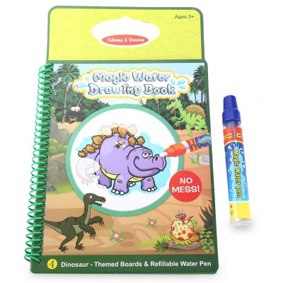 Magic Water Drawing Book Painting Board with Pen - Dinosaur