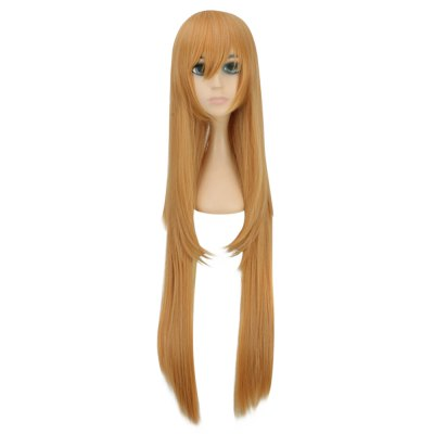 Women Long Straight Wigs Modified Face Heat Resistant Hair Anime Cosplay for Himouto Umaru-chan Figure