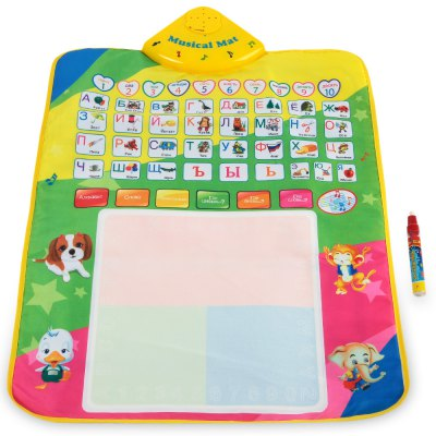 Kids Magic Russian Water Drawing Writing Mat Toy with Pen