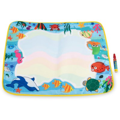 Magic Water Drawing Writing Mat Toy for Kids - Sea World
