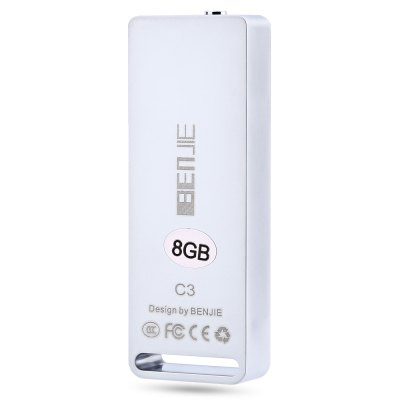 BENJIE C3 Portable 8GB Voice Recorder MP3 Audio PlayerMP3 &amp; MP4 Players<br>BENJIE C3 Portable 8GB Voice Recorder MP3 Audio Player<br><br>Product weight: 0.025 kg<br>Package weight: 0.119 kg<br>Product Size(L x W x H): 5.70 x 2.10 x 0.90 cm / 2.24 x 0.83 x 0.35 inches<br>Package Size(L x W x H): 12.50 x 7.50 x 3.50 cm / 4.92 x 2.95 x 1.38 inches<br>Package Contents: 1 x BENJIE C3 Audio Player, 1 x Clamp, 1 x USB to 3.5mm Plug, 1 x Earphone