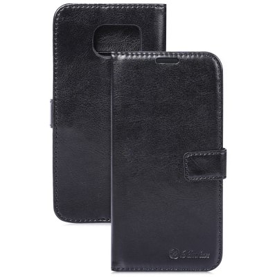 Tomkas Crazy Horse Series Magnetic Flip PU Leather Stand Case Wallet Cover for Samsung Galaxy S7 Edge