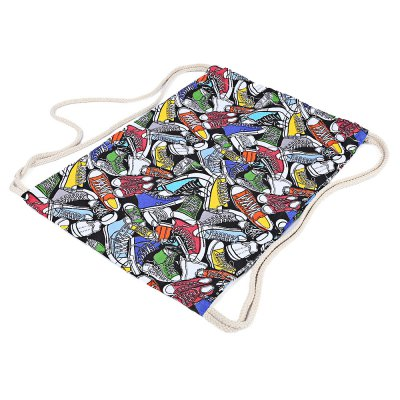 Canvas Gym Shoe Pattern Beam Mouth BackpackDrawstring Bags<br>Canvas Gym Shoe Pattern Beam Mouth Backpack<br><br>Product weight: 0.125 kg<br>Package weight: 0.146 kg<br>Product Size(L x W x H): 43.00 x 33.00 x 1.00 cm / 16.93 x 12.99 x 0.39 inches<br>Package Size(L x W x H): 33.00 x 22.00 x 2.00 cm / 12.99 x 8.66 x 0.79 inches<br>Package Contents: 1 x Backpack