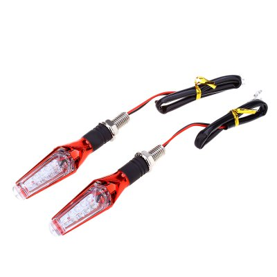 Pair of Motorcycle 9 LED Turn Light Universal Signal Lamp