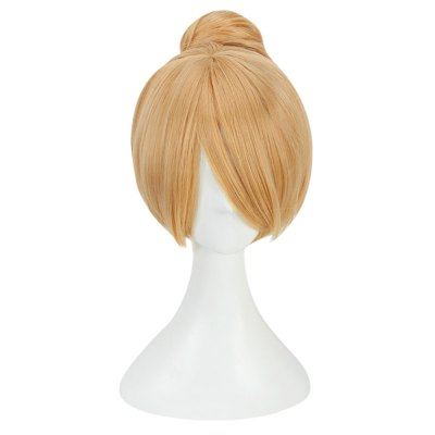 30CM Blonde Cosplay Wigs Synthetic Bun Hair