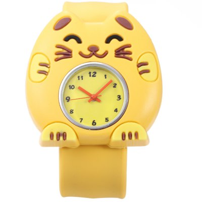 Children Quartz Watch Cat Case WristwatchKids Watches<br>Children Quartz Watch Cat Case Wristwatch<br><br>Band Length: 8.27 inch<br>Band Material Type: Silicone<br>Band Width: 22mm<br>Case Shape: Animal Shape<br>Dial Diameter: 0.95 inch<br>Dial Display: Analog<br>Dial Window Material Type: Plastic<br>Gender: Children<br>Movement: Quartz<br>Style: Simple<br>Product weight: 0.039 kg<br>Package weight: 0.060 kg<br>Product Size(L x W x H): 23.00 x 4.50 x 1.00 cm / 9.06 x 1.77 x 0.39 inches<br>Package Size(L x W x H): 24.00 x 5.50 x 2.00 cm / 9.45 x 2.17 x 0.79 inches<br>Package Contents: 1 x Children Watch