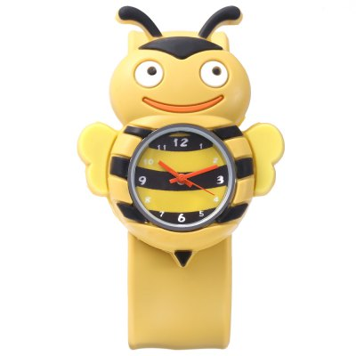 Children Quartz Watch Bee Case WristwatchKids Watches<br>Children Quartz Watch Bee Case Wristwatch<br><br>Band Length: 8.27 inch<br>Band Material Type: Silicone<br>Band Width: 22mm<br>Case Shape: Animal Shape<br>Dial Diameter: 0.95 inch<br>Dial Display: Analog<br>Dial Window Material Type: Plastic<br>Gender: Children<br>Movement: Quartz<br>Style: Simple<br>Product weight: 0.036 kg<br>Package weight: 0.057 kg<br>Product Size(L x W x H): 23.00 x 4.50 x 1.00 cm / 9.06 x 1.77 x 0.39 inches<br>Package Size(L x W x H): 24.00 x 5.50 x 2.00 cm / 9.45 x 2.17 x 0.79 inches<br>Package Contents: 1 x Children Watch