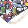 Canvas Gym Shoe Pattern Beam Mouth Backpack deal