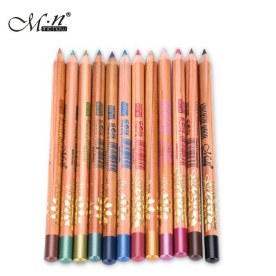 M.n Menow 12pcs Waterproof Long Lasting Eyeliner Pencil