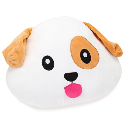 Animal Emoticon Plush Pillow Toy Dog Shape