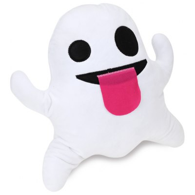 Smiley Ghost Emoticon Plush Pillow Toy