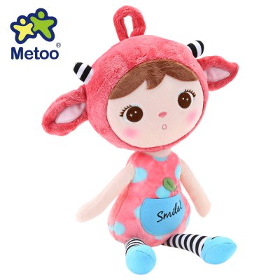 Metoo Little Girl Plush Dolls Toy Christmas Gift